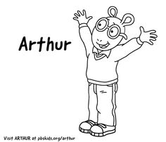 10 Best Arthur Images Coloring Pages Arthur The Aardvark