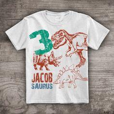 Third Birthday shirt boys Dinosaur t-shirt t-rex theme by StoykoTs