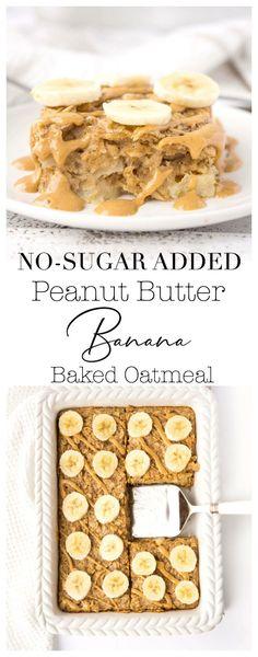 Peanut Butter Banana Baked Oatmeal | Haute & Healthy Living
