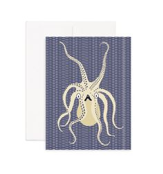 Octopus Greeting Card Printed on 100% recycled paper. Blank inside, perfect for any occasion.