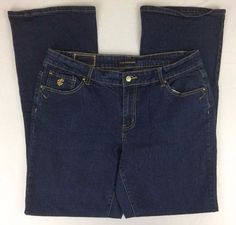 Rocawear Bootcut Jeans Embroidered Stonewash Mid Rise Size 18 L32 #Rocawear #BootCut