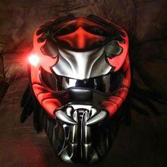 Motorcycle Events, Custom Motorcycle Helmets, Bike Helmets, Ems, Predator Helmet, Helmet Accessories, Black Helmet, Green Dot, Lava