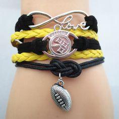 Infinity Love Pittsburgh Steelers 2016 Football Bracelet BOGO