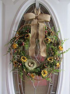 Summer Wreath  Sunflower Wreath  Spring by DoorWreathsByDesign, $53.95