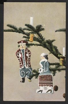 Julepynt Danmark Postkort Brugt u mærke