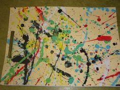 Tapa álbum proyecto Jackson Pollock. Trabajo artistas. Experimentar la técnica action painting con los niños