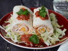 Mexican Turkey Tortilla Roll Ups | OAMC from Once A Month Meals