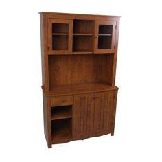 Wine Cabinet: China Cabinet - Medium Brown (Oak)