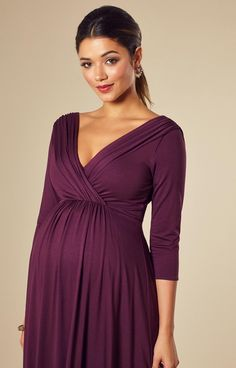 Willow Maternity Dress Short Claret - Maternity Wedding Dresses, Evening Wear and Party Clothes by Tiffany Rose - Moda -