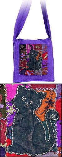 Patchwork Cat Messenger Bag at The Animal Rescue Site