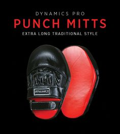 Dynamics Pro Traditional Punch Mitts: Long shape lets you practice punches, elbows, kicks, knees  and more without changing mitts or pads!!