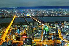 Osaka in Japan ...  Osaka, architecture, beautiful, building, buildings, business, central, city, cityscape, commercial, corporate, district, downtown, japan, japanese, kansai, landmark, landscape, lights, metropolitan, modern, night, ocean, office, scene, scenic, sea, seascape, skyline, skyscraper, town, umeda, urban, view, water