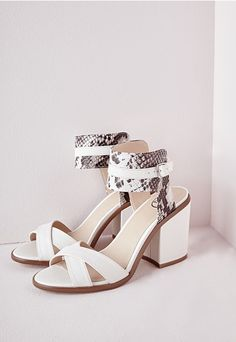 Ankle Strap Block Heeled Sandals - Shoes - Heeled Sandals - Missguided