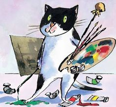 Tony Ross, portrait of the artist as a young cat (via Prìncipi e Princípi) S)