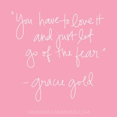 """""""You have to love it and just let go of the fear."""" - Gracie Gold // meganminns.com   Figure skating gifts @ https://www.etsy.com/shop/UniquelyDesigneditem"""