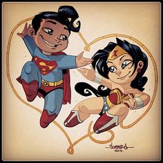 lil superman and wonder woman