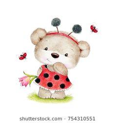 Teddy Bear Drawing, Teddy Bear Cartoon, Cute Teddy Bears, Teddy Bear Nursery, Doraemon Wallpapers, Blue Nose Friends, Bear Graphic, Cute Disney Drawings, Quilling Patterns