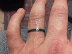 my ring 30 Glamorous Wedding Ring Tattoos