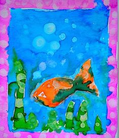 Art activities for kids : Texture on watercolor projects | Kids ...