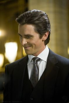 The Dark Knight: Christian Bale as Bruce Wayne. I always say he would have been the perfect Christian Grey in 50 Shades and the movie would have done much better at the box office.