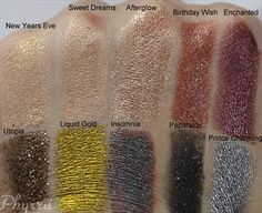 Loving New Year's Eve, sweet dreams & afterglow | New Makeup Geek Pigments