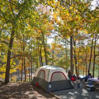 Fall camping at Red Top Mountain State Park on Lake Allatoona Red Top Mountain, Mountain States, High Falls State Park, Sweetwater Creek State Park, Camping In Georgia, Cloudland Canyon, Best Campgrounds, Autumn Lake, Camping Spots