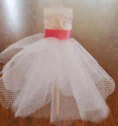 Food Picks Hors D'ouevres wedding dress Set of 10 by cupcake555
