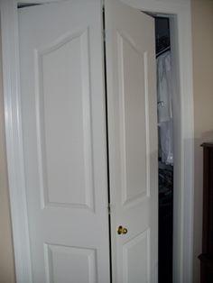 Bifold door: the answer to our bathroom door issue.