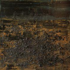 """Koen Lybaert; Oil 2013 Painting """"abstract N° 708 [Coal V]"""""""