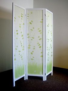 room divider - wallpaper for color, texture?