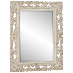 Cream Colored Vintage Mirror For The Bathroom