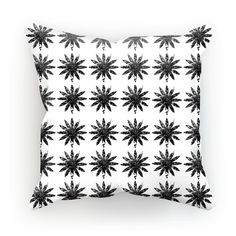 Monochrome Flower Cushion