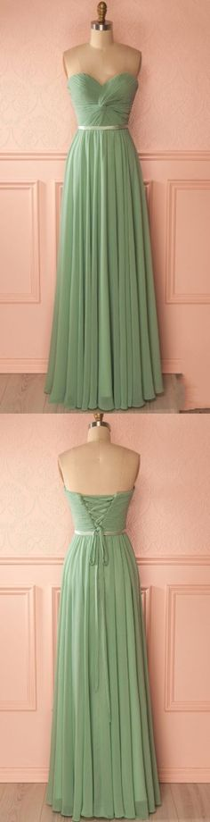 #bridesmaiddress #long #promdress #chiffon #pleats #ruffles #sweetheart #promgownslong