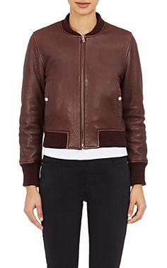 Isabel Marant Étoile Washed Leather Brantley Bomber Jacket - Leather - Barneys.com