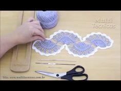Crochê de Grampo e Outras Técnicas com Helen Mareth : Vídeoaula Crochê de Grampo - Variação do Ponto Onda I