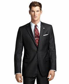 Fitzgerald Fit Saxxon™ Wool Bead Stripe 1818 Suit - Brooks Brothers