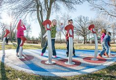 Add lights, sounds touch and more movement to your #playground design with Pulse! #Kids are sure to get a #multisensory play experience.