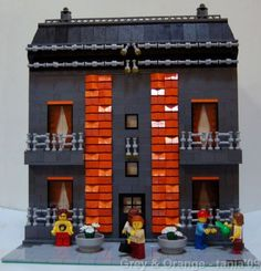 Grey & Orange: A LEGO® creation by Tânia Baixinho : MOCpages.com