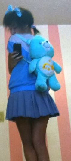 Millions of Bows: Tutorial: Turning a Care Bear Into a Backpack~!...Seriously...She's a genius.