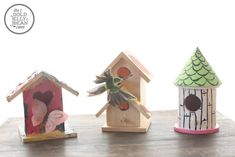Dollarstore Craft : Decorating Birdhouses   The Gold Jellybean
