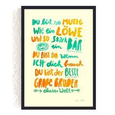Print *Großer Bruder* #bruder #geschwisterliebe #großerbruder