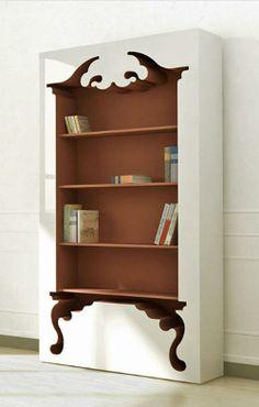 Librero estilo barroco. Diseño de Mungkii