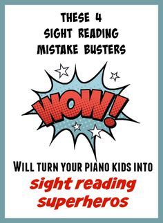 """Once your piano students have mastered a basic approach to sight reading, break out these four """"mistake busters"""" to take their sight reading to the next level. Piano Lessons, Music Lessons, Keyboard Lessons, Piano Classes, Piano Teaching, Learning Piano, Music Activities, Music Games, Elementary Music"""