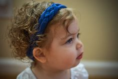 Sailor Knot Headband - Royal Blue Cotton Lycra Knit Thick Sailor Knot Handmade Headband - Great for Baby, Infant, Toddler, or Child! by LucillePaige