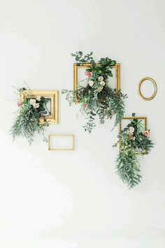Paint long frame and hang long ways with dried flowers hanging inside