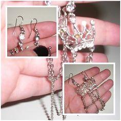 Damen #Ohrringe - #Modeschmuck Hängerchen/Silber/ #Krone | #eBay