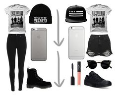 """""""Untitled #105"""" by mylifeasrysa on Polyvore featuring Topshop, Native Union, Dr. Martens, Converse, NARS Cosmetics and Chanel"""