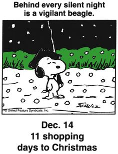 Dec 14 - This is a classic countdown panel from 1997 - I think this portrait was painted when Snoopy was visiting Colonial Williamsburg.