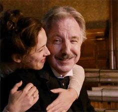 """Alan Rickman as Karl Hoffmeister with Rebecca Hall as his younger wife in """"A Promise"""" 2013"""