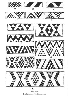 Journal of the Polynesian Society: The Evolution Of Maori Clothi… Taniko Weben. Teil IX, Durch Te Rangi Hiroa (P. Buck) P Maori Designs, Polynesian Designs, Polynesian Art, Hawaiian Crafts, Hawaiian Art, Hawaiian Tattoo, Hawaiian Tribal, Samoan Patterns, Tribal Patterns